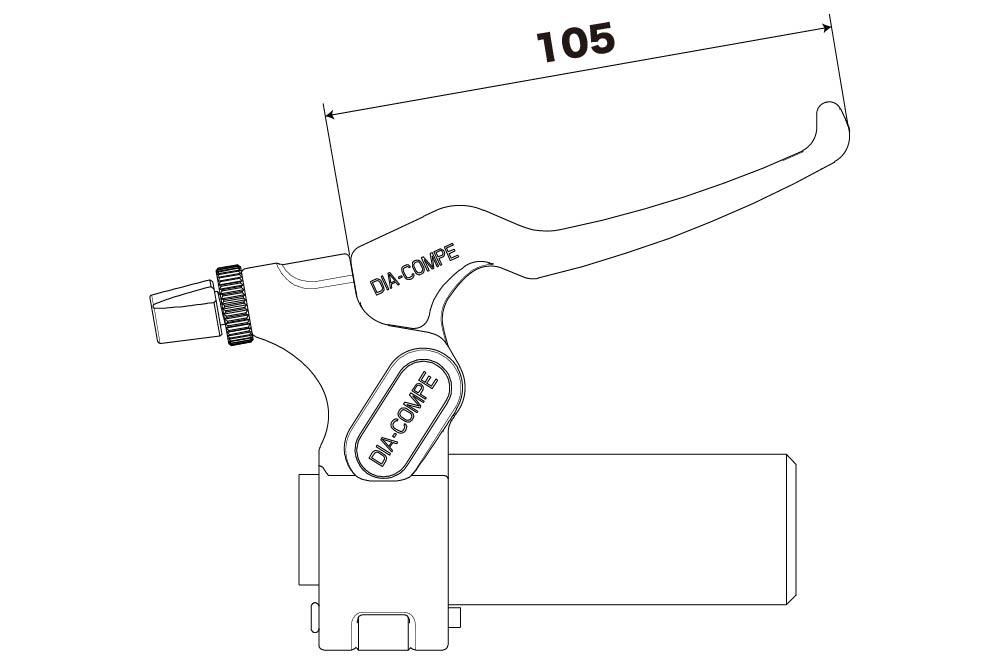 Dia-Compe 282S Lever Black//Silver